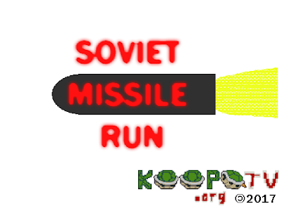 Soviet Missile Run title screen KoopaTV.org 2017 flash game