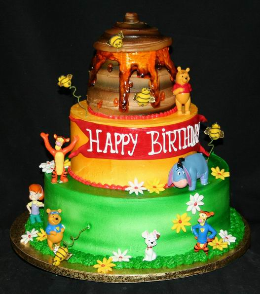 Winnie The Pooh Birthday Cakes Decoration Ideas