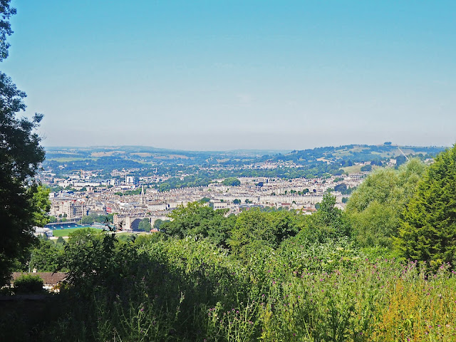 what to do in Bath UK visit bath view from the hill