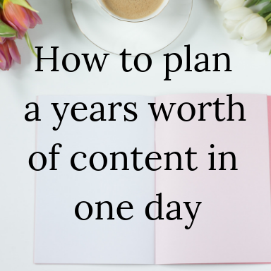 How To Plan A Year Of Blog Posts In One Day