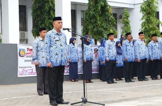 Sekda Irup Upacara Peringatan HUT Ke 72 Kemerdekaan RI Lingkup, Pemkab Kep. Selayar