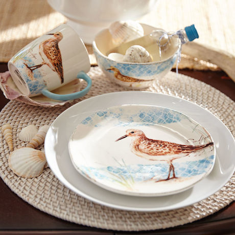 ... could just buy dinner or salad plates as an accent with plainer dinnerware and still bring a touch of the sea to your table no matter where you live! & GAFunkyFarmhouse: Wish List Wednesdays: Pier 1 Sandpiper Dinnerware