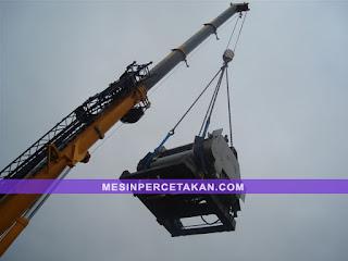 Jasa pindah mesin cetak | offset machine crane moving