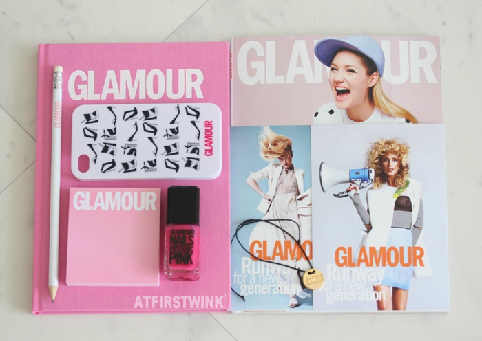 content of Glamour goodiebag