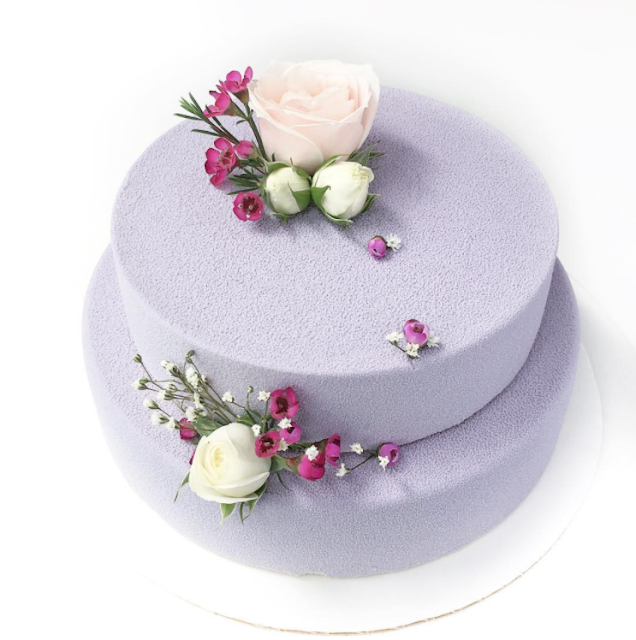 tarta de boda efecto terciopelo - blog mi boda