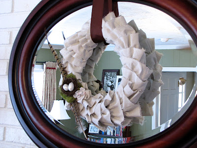 how to make a ruffle wreath