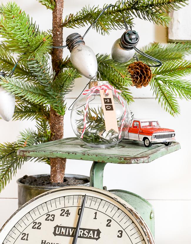 Clear dollar Tree gift tag ornaments