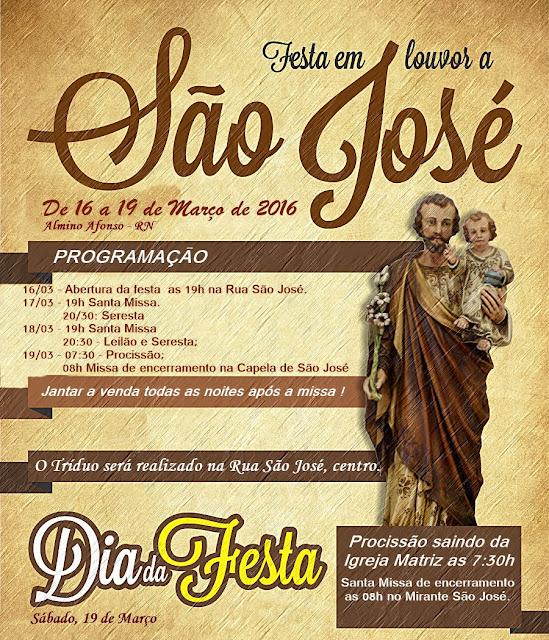 Festa de São José 2016 em Almino Afonso - RN