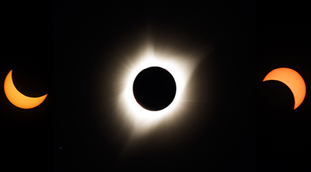 1st contact, totality, 4th contact - all shot by yours truly!