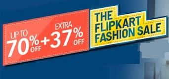 Flipkart New Offer: Extra 37% Off on Men's / Women's / Kids Clothing, Footwear, Bags, Belts, Wallets, Sunglasses, Home Furnishing