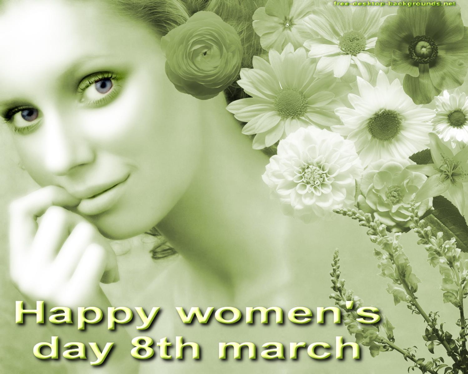 happy women 39 s day 2012 special greetings wallpaper free. Black Bedroom Furniture Sets. Home Design Ideas