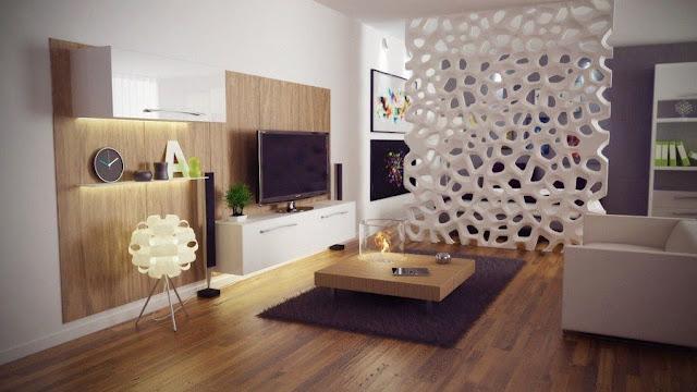 Vách ngăn phòng ngủ bằng gỗ 10