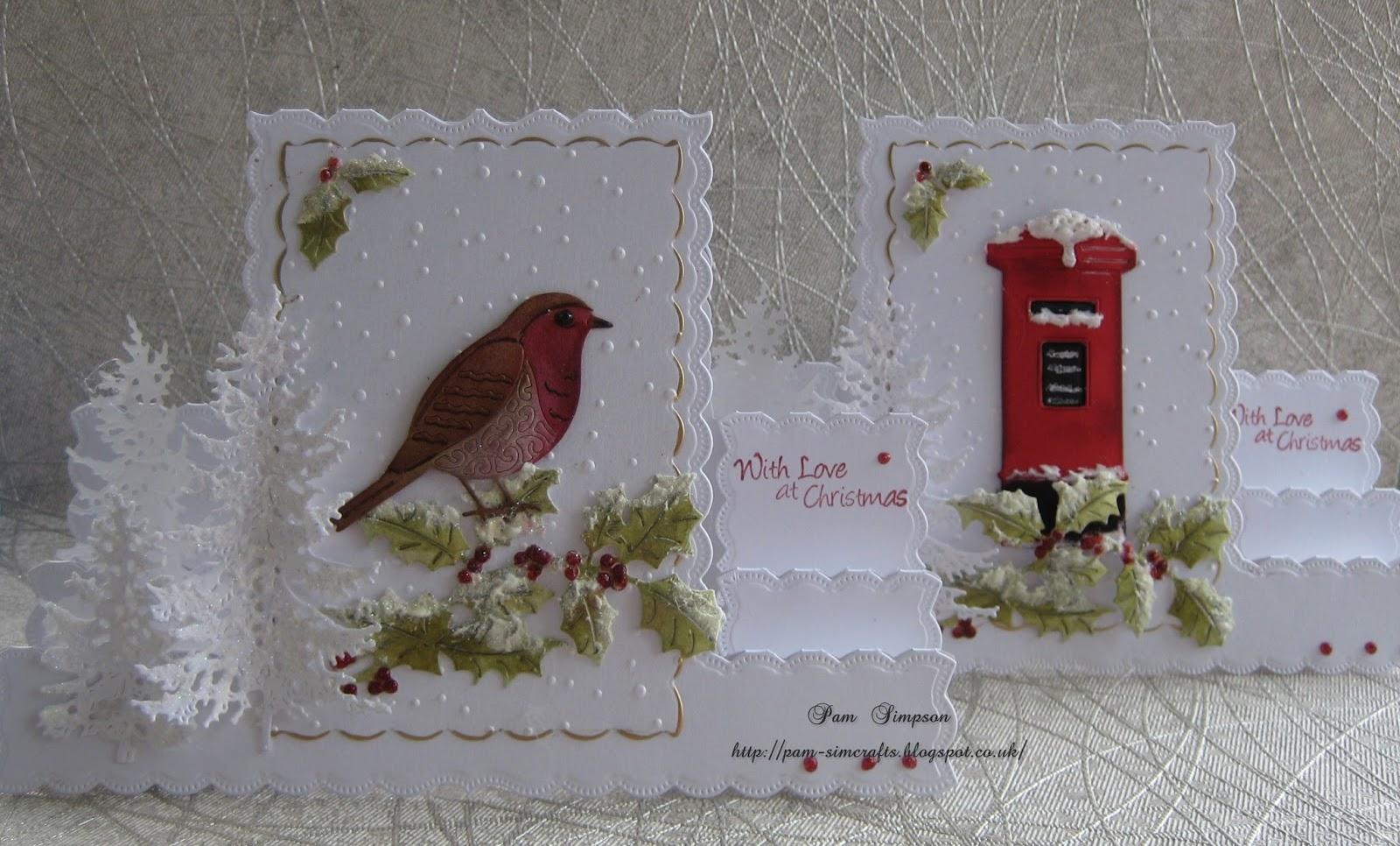 pamscrafts: Christmas Stepper cards.
