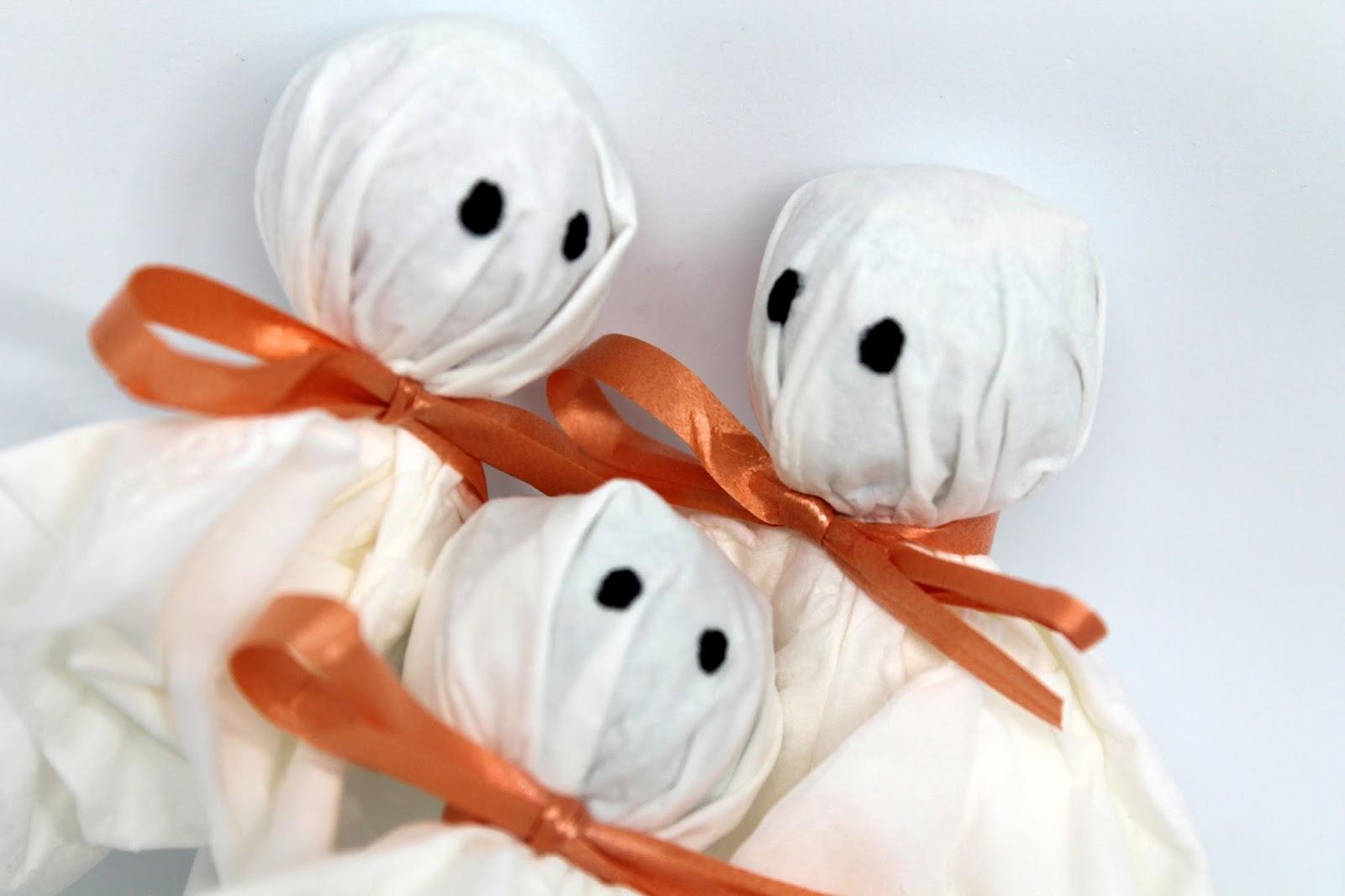 DIY, Basteln: Lolly Gespenster in Halloween, Herbst, Geschenke, Geschenkideen - DIYCarinchen