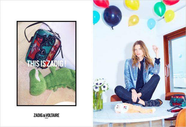 Zadig & Voltaire Fall/Winter 2016 Campaign featuring Malgosia Bela