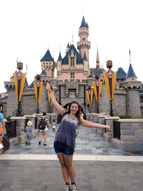 Me in front of Sleeping Beauty Castle | Disneyland Hong Kong