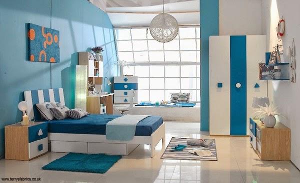 Photo Décoration chambre bleu enfant