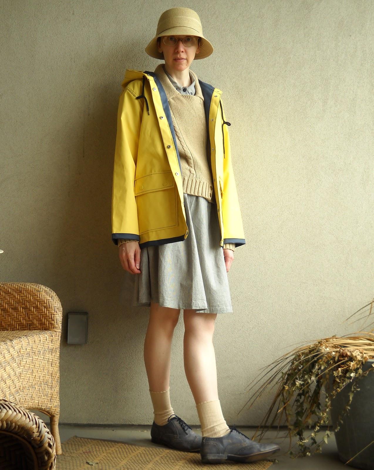 Wardrobe Tales  The Yellow Rain Slicker And The Cloche Hats d3bfc3ca3b9