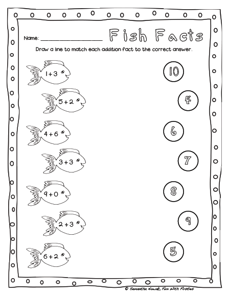fun with firsties free addition math station worksheet noise level management. Black Bedroom Furniture Sets. Home Design Ideas