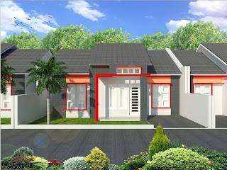 Contoh Gambar Kerja Rumah Minimalis  1 Lantai di Yogyakarta
