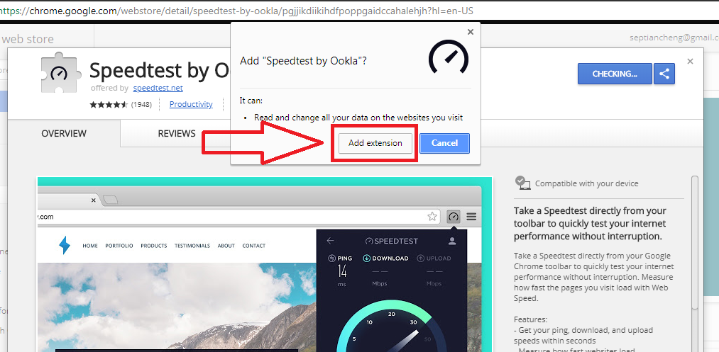 Cara Pasang Speedtest by Ookla di Browser Google Chrome - informasiajib