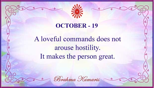 Thought For The Day October 19
