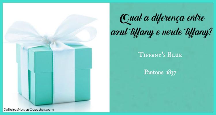 diferença entre Azul Tiffany e Verde Tiffany