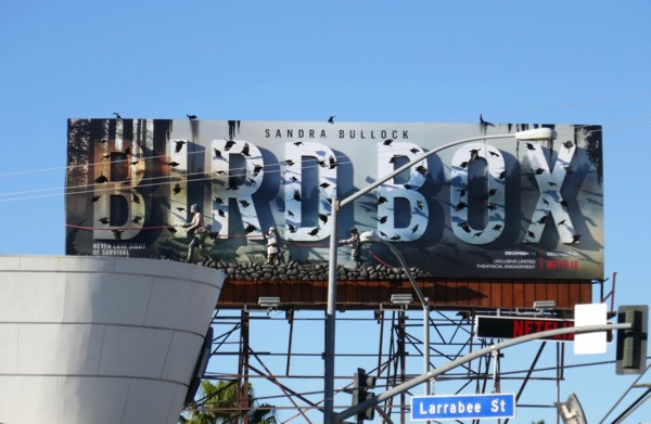 Bird Box movie special 3D billboard