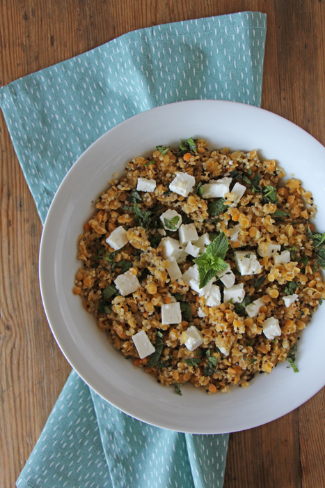Linsen-Quinoa-Salat mit Minze