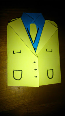 bricolage chemise cravate en papier