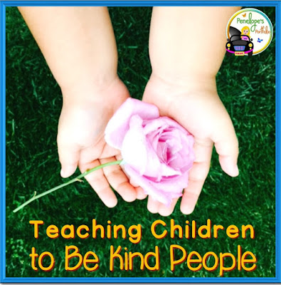 A child's hands holding a pink rose to show kindness