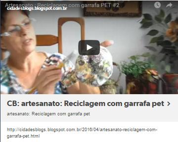 artesanato: Reciclagem com garrafa pet