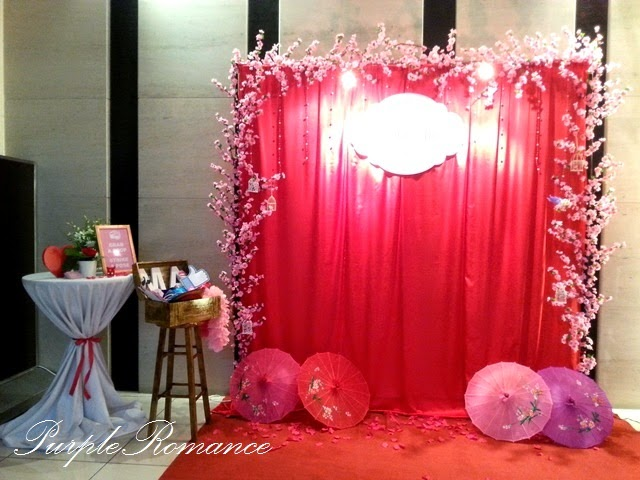 sakura cherry blossom wedding decoration holiday inn glenmarie ballroom kl purple romance. Black Bedroom Furniture Sets. Home Design Ideas