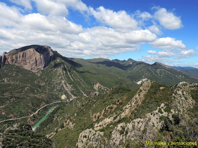 Panorámica del mallo Peña Rueba, Huesca