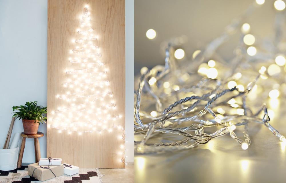 Albero di natale fai da te con filo di luci blog di for Arredamento natalizio casa