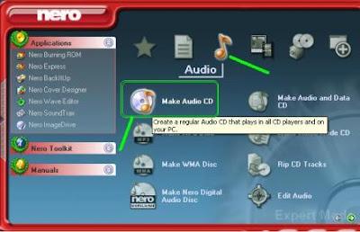Video Cara membuat cd audio lagu dengan nero