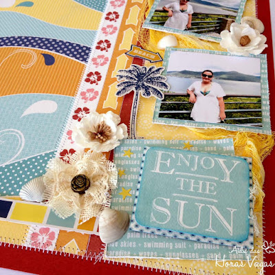 scrap scrapbook scrapbooking Beach Boardwalk Carta Bella enjoy the sun