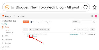 Viewing your first published post blogger