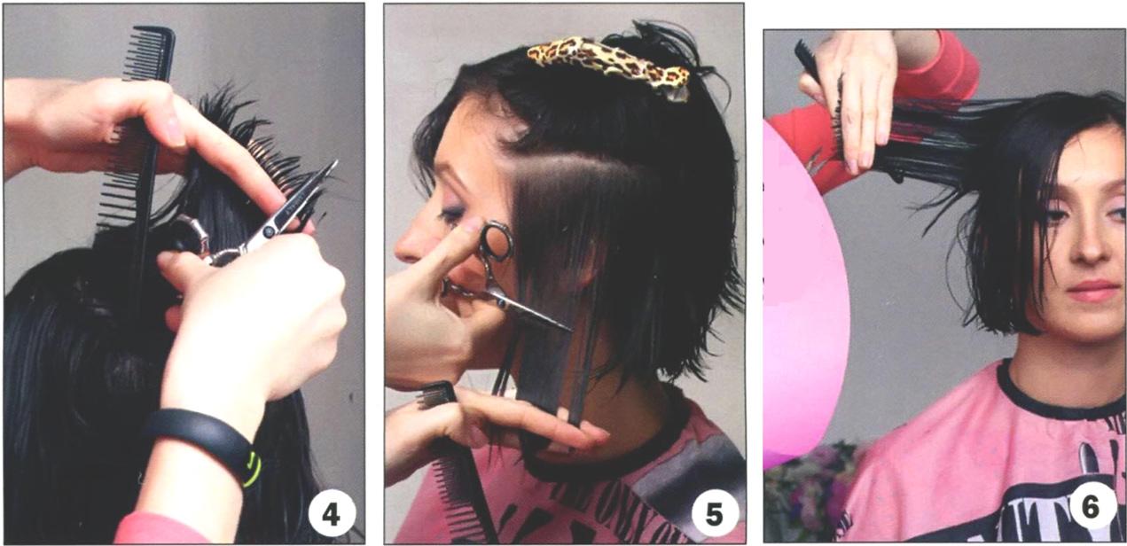 Стрижка боба на вьющихся волосах