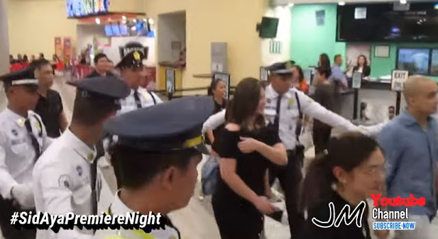 """Watch How A Group Of Security Guards Protected Angel Locsin At The Premiere Night Of """"Sid and Aya"""""""