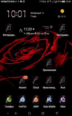 Rose on black
