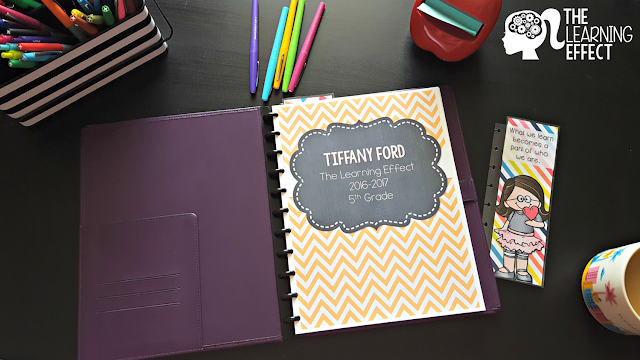 Teacher planner cover