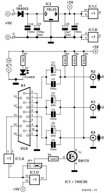 Build a Converter VGA to BNC Adapter   circuit coll
