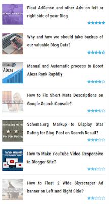Menambah Rating Bintang Biru di Blogger