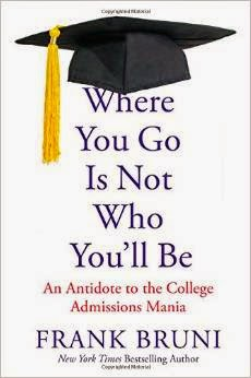 Frank Bruni College Book Where You Go Is Not Who You'll Be