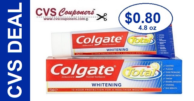 Colgate Toothpaste CVS Deal - Only $0.80 - 4/28-5/4