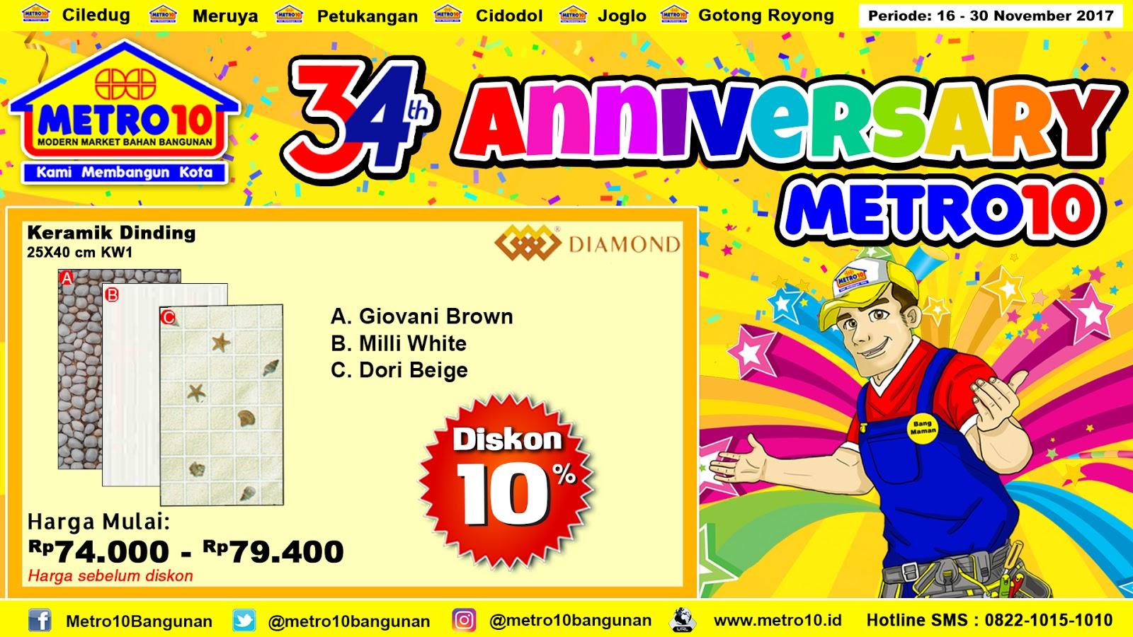 Metro 10 Bangunan November 2017 Semen Perekat Keramik Mastertile 25 25kg Sak Harga Dinding Diamond 25x40cm Kw1