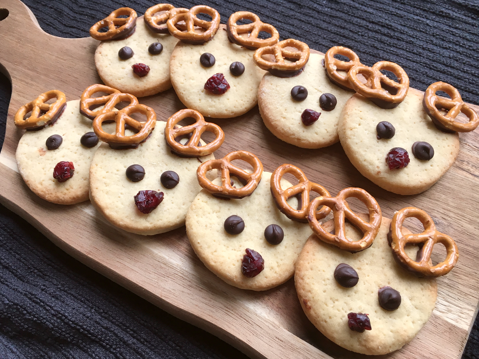 Christmas Reindeer Shortbread Biscuits Vegan