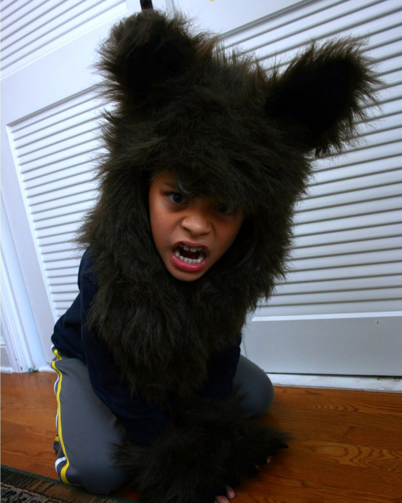 I love this photo -- I think Jammy looks like a fierce little bear. The ears are a bit long so itu0027s easy to mistake the werewolf costume for a bear costume ...  sc 1 st  Bonggamom Finds - Blogger.com : kids fierce werewolf costume  - Germanpascual.Com