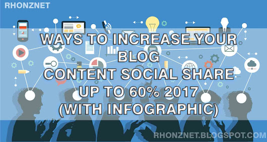 Increase your Blog Content social share up to 60% 2017 (With Infographic) - RhonzNET